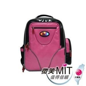 【微笑MIT】Caution可欣/晟旭-小學生會發亮的後背書包 CT1013-8A(可愛粉)