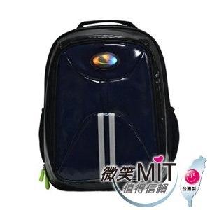【微笑MIT】Caution可欣/晟旭-小學生會發亮的後背書包 CT1014-6(精靈藍)