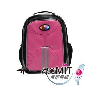 【微笑MIT】Caution可欣/晟旭-小學生會發亮的後背書包 CT1014-8A(可愛粉)