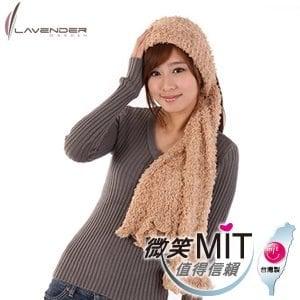 【微笑MIT】Lavender/上比-百變魔術圍巾(卡其色)