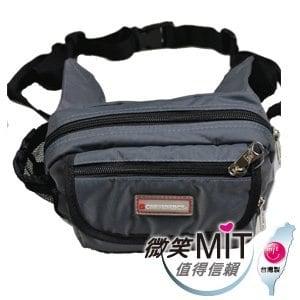 【微笑MIT】Confidence 高飛登/晟旭-輕巧霹靂小腰包 CB2091-2(氣質灰)