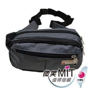 【微笑MIT】Confidence 高飛登/晟旭-輕巧霹靂小腰包 CB2171-2(氣質灰)