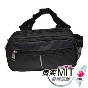 【微笑MIT】Confidence 高飛登/晟旭-輕巧霹靂小腰包 CB2171-9(神秘黑)