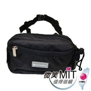 【微笑MIT】Confidence 高飛登/晟旭-輕巧霹靂小腰包 CB2281-9(神秘黑)
