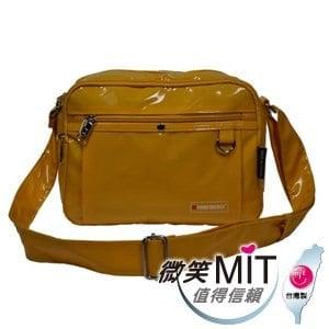【微笑MIT】Confidence 高飛登/晟旭-流行鏡面側背包 CB1371-3(閃耀黃/小)