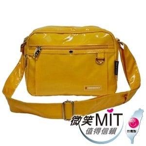 【微笑MIT】Confidence 高飛登/晟旭-流行鏡面側背包 CB1381-3(閃耀黃/中)