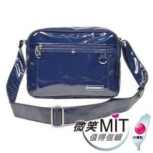 【微笑MIT】Confidence 高飛登/晟旭-流行鏡面側背包 CB1381-6(精靈藍/中)