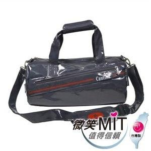 【微笑MIT】Caution 可欣/晟旭-流行鏡面圓桶包 TB8351-2(氣質灰/小)