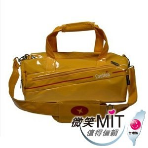 【微笑MIT】Caution 可欣/晟旭-流行鏡面圓桶包 TB8351-3(閃耀黃/小)
