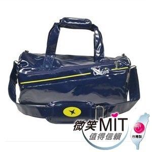 【微笑MIT】Caution 可欣/晟旭-流行鏡面圓桶包 TB8351-6(精靈藍/小)