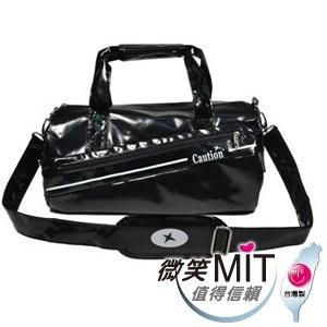 【微笑MIT】Caution 可欣/晟旭-流行鏡面圓桶包 TB8351-9(神秘黑/小)