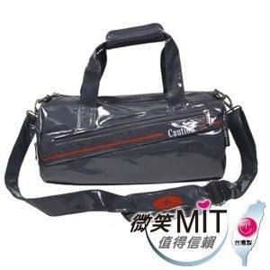 【微笑MIT】Caution 可欣/晟旭-流行鏡面圓桶包 TB8631-2(氣質灰/中)