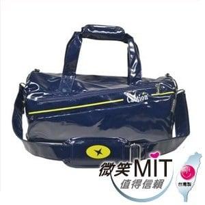 【微笑MIT】Caution 可欣/晟旭-流行鏡面圓桶包 TB8631-6(精靈藍/中)