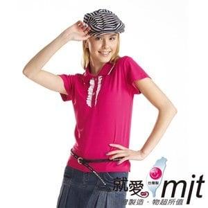 【微笑MIT】瑪蒂斯/盛銘-女短POLO 奈米竹炭排汗衣 浪漫蕾絲 抗UV G6211(桃)