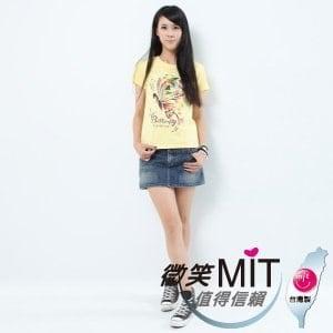 【微笑MIT】Shirley House/天悅-時尙文創藝術潮T 愛台灣系列 女款(蝴蝶)