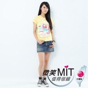 【微笑MIT】Shirley House/天悅-時尙文創藝術潮T 愛台灣系列 女款(溫泉)