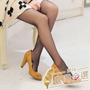 【微笑MIT】華貴絲襪/金福隆-雙T透膚全彈性超透膚褲襪 3雙(黑)