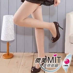 【微笑MIT】華貴絲襪/金福隆-80丹100%全彈性纖腿免脫健康襪 2雙(膚)