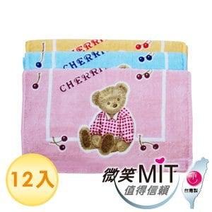 【微笑MIT】格蕾絲GRACE/泓棨-櫻桃熊絨童巾(12入)