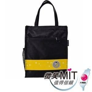 【微笑MIT】Caution可欣/晟旭-螢火蟲系列之直式手提袋 CT10321-3(黑/黃)