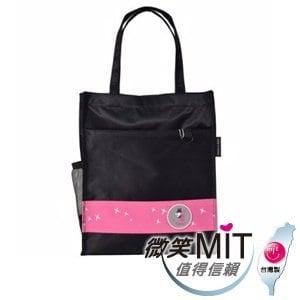 【微笑MIT】Caution可欣/晟旭-螢火蟲系列之直式手提袋 CT10321-8A(黑/粉)