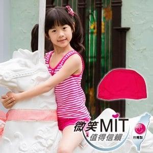 【微笑MIT】3apples/綠璟鴻-小女泳裝二件式褲裝+泳帽 A4GP315(桃紅色)