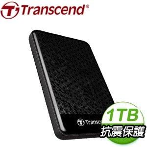 Transcend 創見 SJ25A3K 1TB USB3.1 2.5吋 防震外接硬碟