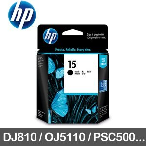 HP 原廠墨水匣 C6615DA 黑色