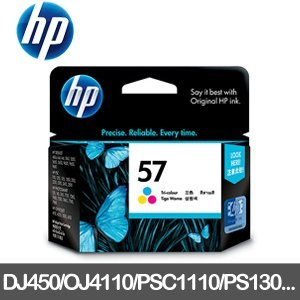 HP 原廠墨水匣 C6657AA 三色