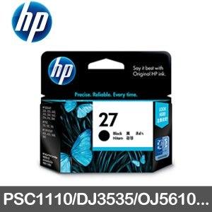 HP 原廠墨水匣 C8727AA 黑色