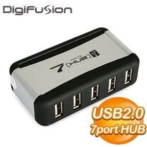 伽利略 實用型 USB 2.0 7 Port HUB (黑銀)