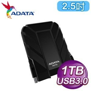 ADATA 威剛 HD710 1TB USB3.0時尚防震行動硬碟《黑》