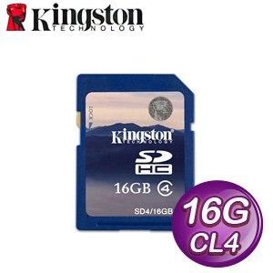 Kingston 金士頓 16G CL4 SDHC 記憶卡(SD4/16GB)