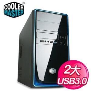 Cooler Master 酷碼 RC-344/USB3 黑藍2大 Micro-ATX電腦機殼