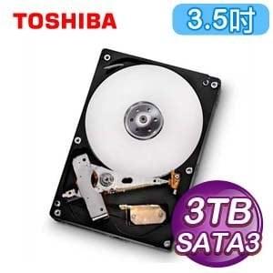 Toshiba 東芝 3TB 3.5吋 7200轉 64M快取 SATA3硬碟(DT01ACA300)