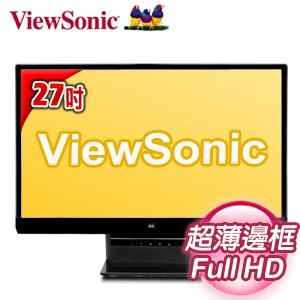 ViewSonic 優派 VX2770SMH 27型寬 Full HD無邊框 LED液晶螢幕