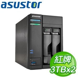 ASUSTOR華芸 AS-602T 6TB 網路儲存伺服器(WD30EFRX*2)