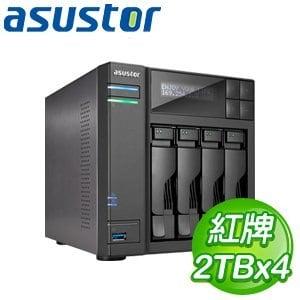 ASUSTOR華芸 AS-604T 8TB 網路儲存伺服器(WD20EFRX*4)