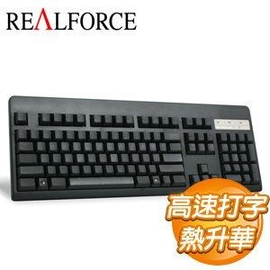 Realforce 104U 英文 無接點靜電容式鍵盤《黑色》