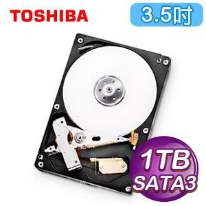 Toshiba 東芝 1TB 3.5吋 32M快取 SATA3影音監控硬碟(DT01ABA100V)