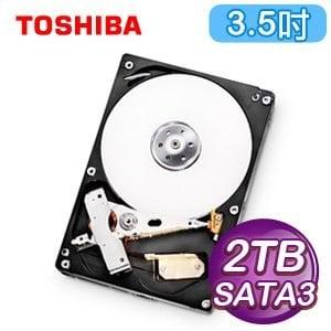 Toshiba 東芝 2TB 3.5吋 32M快取 SATA3影音監控硬碟(DT01ABA200V)
