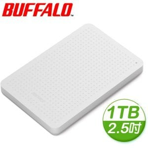 Buffalo 巴比祿 PCFU3 1TB 2.5吋 USB3.0外接硬碟《白》