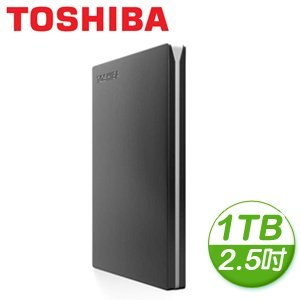 Toshiba 東芝 Canvio Slim II 1TB USB3.0 2.5吋超薄型外接式硬碟《黑》
