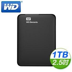 WD 威騰 Elements 1TB 2.5吋 USB3.0 外接式硬碟