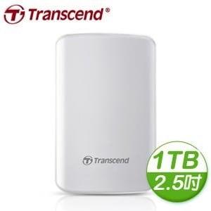Transcend 創見 SJ25D3W 1TB USB3.0 2.5吋白曜鏡面防震硬碟