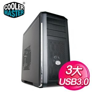 Cooler Master 酷碼 CM690 III/網孔版 黑3大電腦機殼