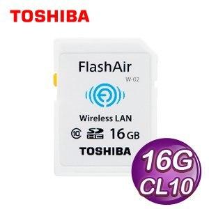 Toshiba 東芝 16G SDHC FlashAir Class10 高速傳輸記憶卡《代理商公司貨》