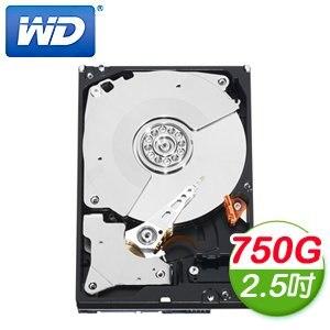WD 威騰 Black 750G 2.5吋 7200轉 16M快取 SATA3黑標硬碟(WD7500BPKX)