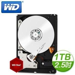WD 威騰 Red 1TB 2.5吋 5400轉 16M快取 SATA3紅標硬碟(WD10JFCX)