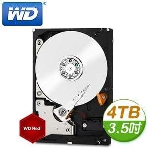 WD 威騰 Red 4TB 3.5吋 5400轉等級 64M快取 SATA3紅標硬碟(WD40EFRX)